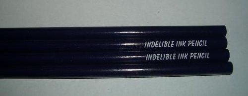 - Indelible Ink Pencils, Graphite/Violet Purple - Blue Barrel 12 PK