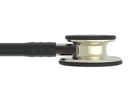 3M Littmann Classic III Monitoring Stethoscope, Champagne - Finish Chestpiece, Black Tube, Smoke Stem and Headset, 27 inch, 5861