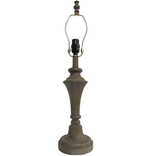 Washed Wood Table Lamp (Hampton Bay Mix and Match 26 in. Whitewashed Wood Table Lamp - Title 20)