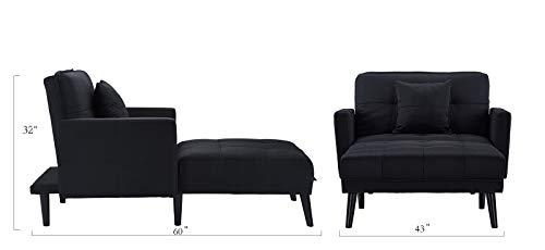 Best Mid Century Modern Linen Fabric Recliner Sleeper