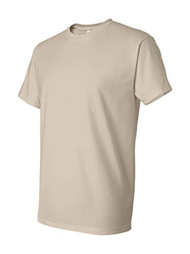 Gildan mens DryBlend 5.6 oz. 50/50 T-Shirt(G800)-SAND-M (Tan T-shirt Tee)