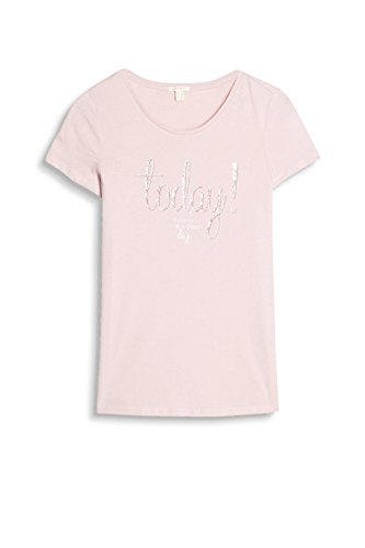 ESPRIT, Camiseta para Mujer Rosa (Light Pink)
