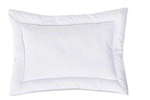 ZOLLNER® kochfestes Babykopfkissen / Kinderkissen / Kopfkissen versteppt, Größe 40x60 cm weiß, direkt vom Hotelwäschehersteller, Serie
