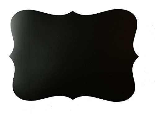 Fancy Cut Scalloped Reusable 12 x 17 Chalkboard Placemats Set of 4