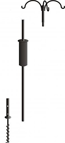 Bird's Choice 3 Arm Pole Package, Large, Black by Birds Choice