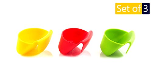 Dip Clip Chip Bowl Cup Car Holder, 3 Colorful Plastic Set Sauce Plate Mini Cups Dipping Holders For Kids, Salsa Bowls Dish Dips Clips For Tomato Salt Sugar, Christmas Party Table Ware Cookie Container - Salt Dip Dish