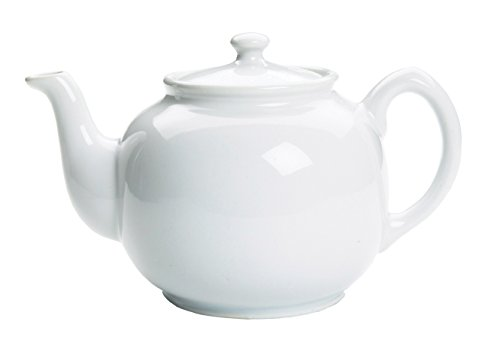 Fox Run 10-cup Earthenware Teapot, 55-Ounce, White