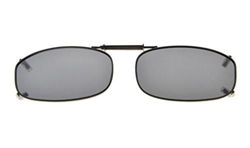 Eyekepper Metal Frame Rim Polarized Lens Clip On Sunglasses 1 7/8x1 1/16