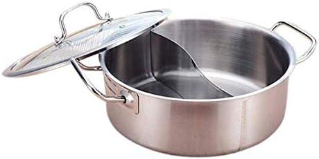 2 Grid 2 Taste 28cm Fondue Pot Stainless Steel Hot Pot Self-