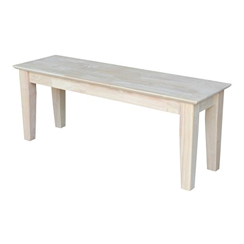 International Concepts BE-47S Shaker Style Bench, Unfinished by International Concepts