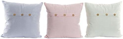 Dcasa - Cojines 100% Algodon Colores Pastel con Boton: Amazon.es ...