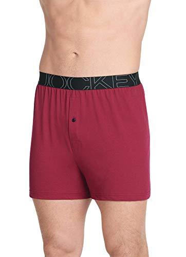 Jockey Men's Underwear ActiveBlend Knit Boxer, Spanish Wine, M (Spanish Fly Clothing)