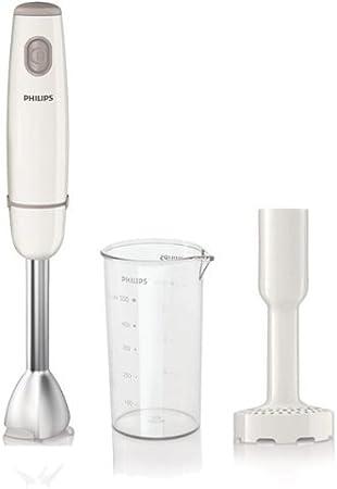 Philips HR1606/00 - Batidora de varilla Daily Collection con tecnología de mezclado ProMix, 550 W, Vaso de 0,5 l, picadora, 1 velocidad,