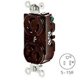 Bryant 4792dr 15A 125V LOCKING AND STRAIGHT BLADE Combination Receptacle, Brown 4792 by Bryant