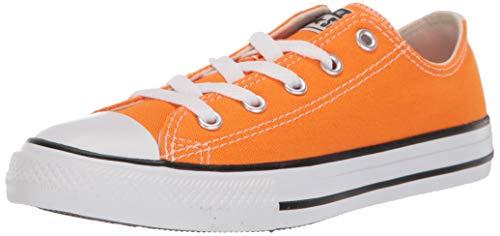 Converse Boys' Chuck Taylor All Star Galaxy Dust Sneaker, Orange Rind/Natural Ivory, 3 M US Little Kid (Orange Converse Sneakers)