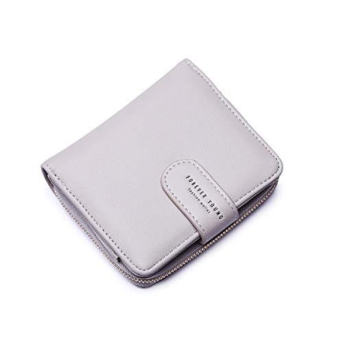 Wallets for Women, Women Small Wallet Lady Short Wallet Bifold Leather Multi-purpose Wallet with ID Window (A-Gray) (Bi Short Fold Wallet)