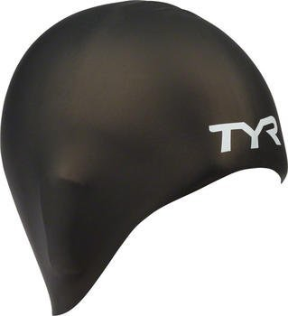 Long Hair Silicone Swimming Cap (Black) by TYR For Sale