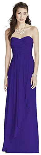Strapless Crinkle Chiffon Bridesmaid Dress with Cascade Skirt - Dresser Regency 6 Drawer