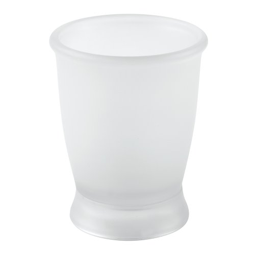 - InterDesign Franklin Plastic Tumbler Cup for Bathroom Vanity Countertops - Clear Frosted