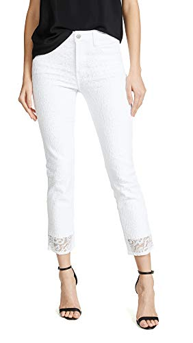 J Brand Women's Ruby High Rise Crop Cigarette Jeans, Stargazer White, 26