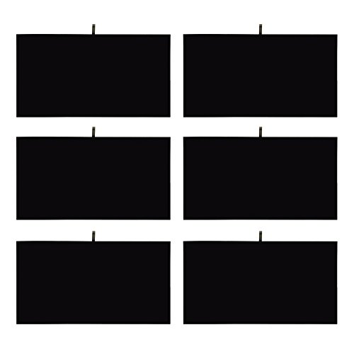 Mooca Black Leatherette Cover Pad Tray Insert Jewelry Display, 6 PCS