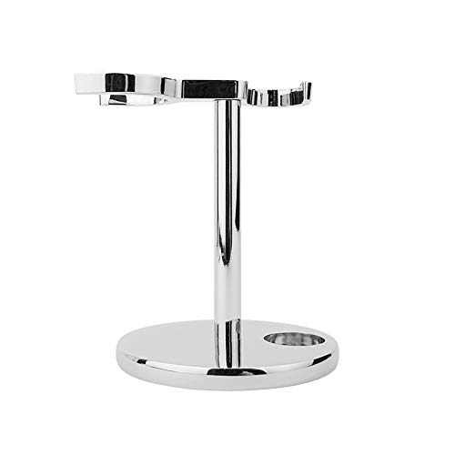 MIT Universal Shaving Stand for Long Safety Razor and Brush with Chrome-Plated ()