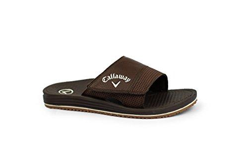 eenth 2.0 Slide Sandal, Brown, M D US (Callaway Golf Jersey)
