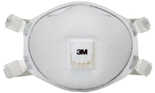 3M 8212 N95 Disposable Particulate Welding Cup Respirator with Cool Flow Exhalation Valve, Standard, ASTM D2859-96 (8 Boxes of 10 )
