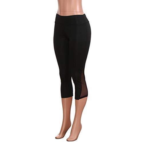 Estilo Ocio de Pantalón Fitness Cordón Alta Cintura Negro Pantalones Yoga Impreso Pantalones Vaqueros ASHOP de de Jeans Cintura Negro Mujer Leggings de Boho q6gwZYTxX