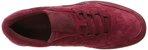 Reebok Mens Club C 85 Tg Fashion Sneaker Collegiaal Bordeaux Rood / Donkerrood