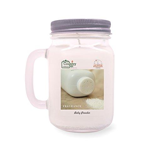 Country Jar Baby Powder Mason Jar Candle (16 oz.) 100% Natural Soy (3 OR More Sale!)