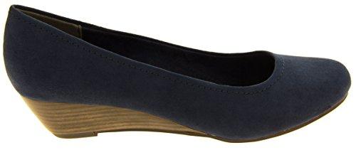 Marco Tozzi Mujer Blanco Zapatos Bajos Del Efecto De La Madera De Los Talones De La Cuña EU 40 0e774Y
