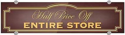 CGSignLab 24x6 Classic Brown Premium Brushed Aluminum Sign Half Price Off Entire Store 5-Pack