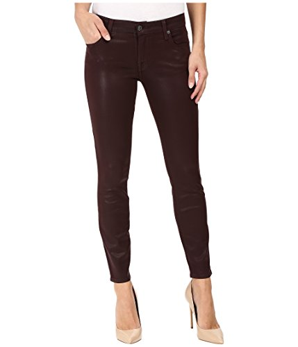 7 For All Mankind Women's The Ankle Skinny in Plum Plum Jeans 28 X 28 by 7 For All Mankind