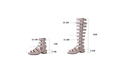0bc521dd8f022 Koyi Nouveau Cuir Femme Sandales Talon Talon de Poisson Roman Sandales Star  Pompes Personnalité Filles Open-Toed  Amazon.fr  Chaussures et Sacs