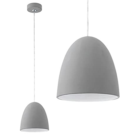 Lámpara de techo colgante de cerámica en colour gris y ...