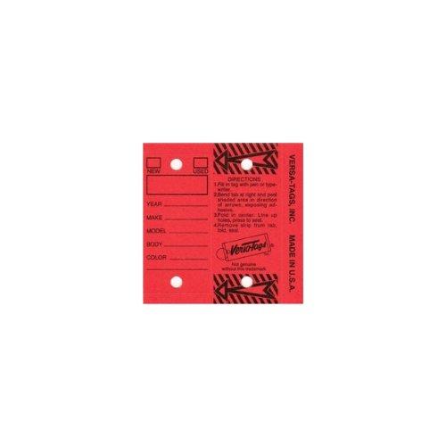 Self Laminating Key Tags-Red (250/Box)