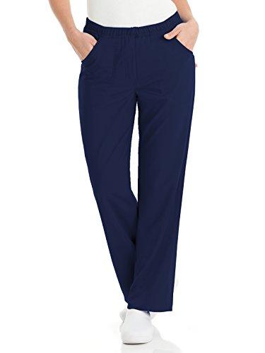 Urbane Women's Petite Alexis Comfort Elastic Waist Scrub Pant, Navy, Petite/Medium ()