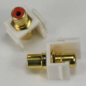Rca F/f Keystone Module - GOWOS RCA Red F/F Keystone Module White