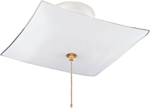 Boston Harbor F98WH02SW-1264H3L 5573688 Dimmable Ceiling Light Fixture with Pull Chain, (2) 60/13 W Medium A19/Cfl Lamp, White (Chain Semi Flush)