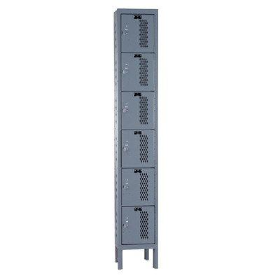 Heavy Duty Ventilated Locker (6-Tier Heavy-Duty Ventilated Locker in Hallowell Gray (Large))