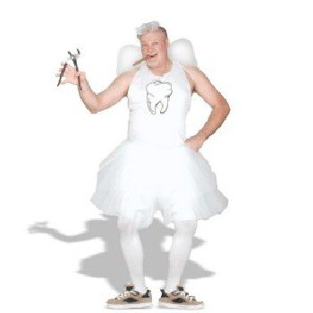Tooth Fairy Adult Costume - Plus (Tooth Fairy Halloween Costume)