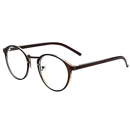 Glasses hipster Brown New Fashion Retro Vintage Round Circle Frame Eyeglasses Clear Lens Eye Glasses - Glasses For Hipster Sale