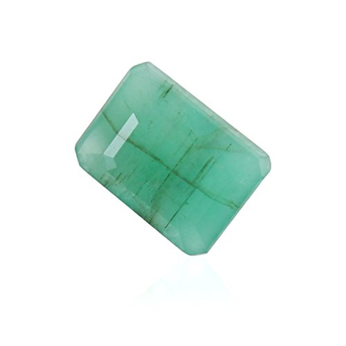 Be You 3.59cts Vert clair Couleur Facettes Rayonnante Forme Naturel Brésilienne Émeraude