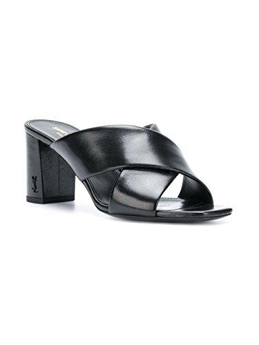 472035akpvv1000 Sandales Cuir Laurent Femme Saint Noir fxS4qw