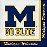 Club Pack of 240 NCAA Michigan Wolverines 2-Ply Tailgating Party Lunch Napkins