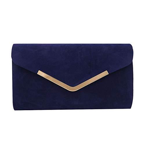 Haute Femme Main Bleu à Vintage Medium Métallique Marine Sac Abricot pour Bordure Diva frwqx18f