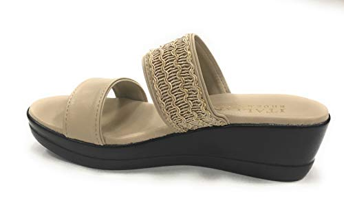Shoemakers ITALIAN Women's Lorel Slide Sandal Taupe Hxpqd6x