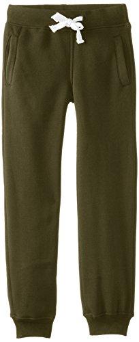 Southpole Boys' Big Active Basic Jogger Fleece Pants, olive, Medium / 10-12 (Green Sweatpants Kids)