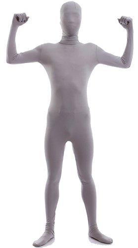 Superman Second Skin Costume (VSVO Second Skin Zentai Full Body Costume (Medium, Grey))